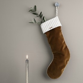 Christmas Velvet Stocking - Mustard  Yellow Ferm Living Kids
