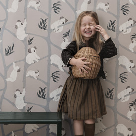 Koala Wallpaper - Grey Grey Ferm Living Kids