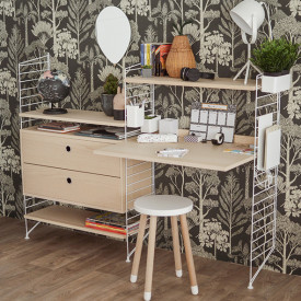Katie Scott Wallpaper - Trees - Petrol Blue Ferm Living Kids