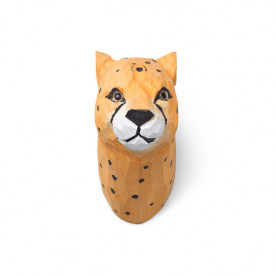 Animal Hand-Carved Hook - Cheetah Orange Ferm Living Kids
