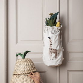 Safari Storage Bag - Giraffe Beige Ferm Living Kids