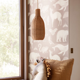 Braided Bottle Lampshade Nature Ferm Living Kids