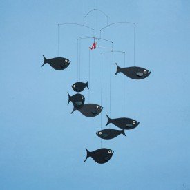 Shoal of fish Mobile Black Flensted