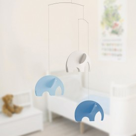 Elephants Mobile - Blue Blue Flensted