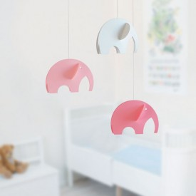Elephants Mobile - Pink Pink Flensted