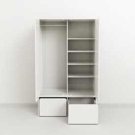 Low Storage Unit - 2 Chests CABBY White Flexa