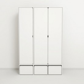 High Wardrobe CABBY - 2 Doors White Flexa