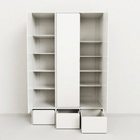 Low Storage Unit - 1 Chest CABBY White Flexa