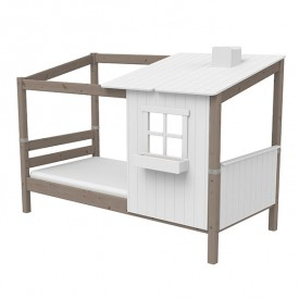Single bed w/ half Classic House - 90 x 200 White Flexa