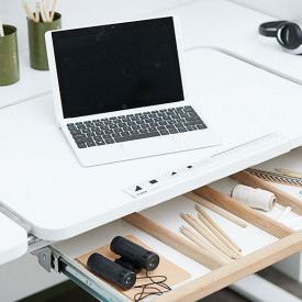 Desk MOBY - Middle Up White Flexa