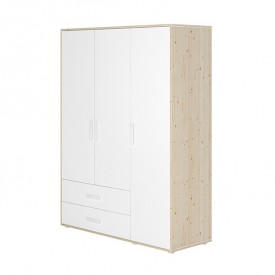 Näst 3 doors wardrobe White Flexa