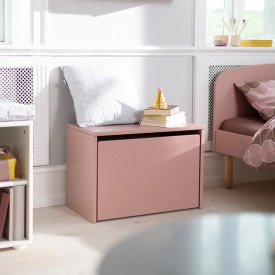 PLAY Storage Chest / Bench - Light Rose Pink Flexa