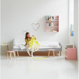 Superbe ... PLAY Single Bed 90 X 200   Grey Grey Flexa
