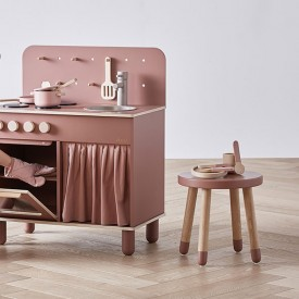 PLAY Small Stool - Cherry  Pink Flexa