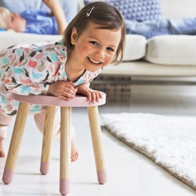 PLAY Small Stool - Pink Pink Flexa