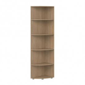 Corner bookcase Popsicle Nature Flexa