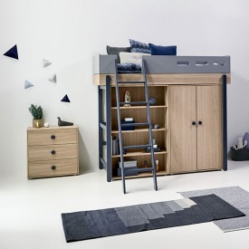 Low 2 doors wardrobe Popsicle Nature Flexa