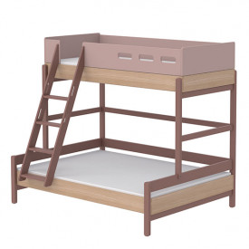 Family bed Popsicle - Slanting Ladder - Cherry Pink Flexa