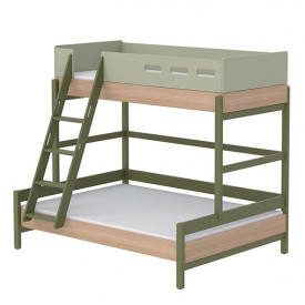 Family bed Popsicle - Slanting Ladder - Kiwi Green Flexa