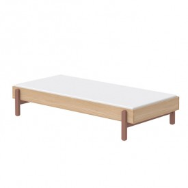 Single bed Popsicle 90 x 200 cm - Cherry Pink Flexa