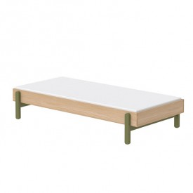 Single bed Popsicle 90 x 200 cm - Kiwi  Green Flexa