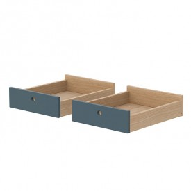 Set of 2 drawers Popsicle - Blueberry Blue Flexa