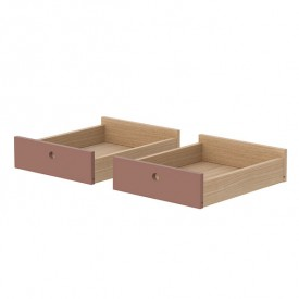 Set of 2 drawers Popsicle - Cherry  Pink Flexa