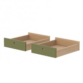Set of 2 drawers Popsicle - Kiwi Green Flexa
