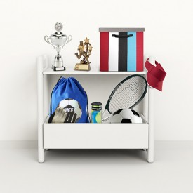 Shelfie Shelf - Mini D - White  White Flexa