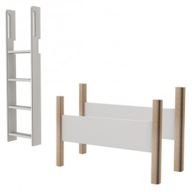 Conversion kit maxi high bed - 90x190cm - White / Birch White Flexa