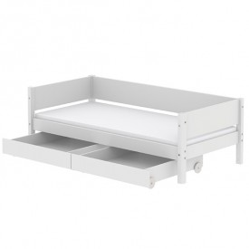 White Day Bed 90x200cm - White  White Flexa