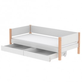 White Day Bed 90x200cm - White / Birch  White Flexa
