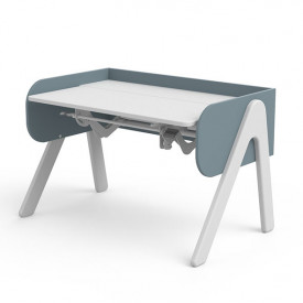 Tilting Desk WOODY - White/Frosty Blue Blue Flexa