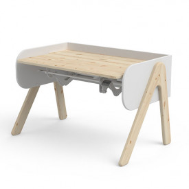 Tilting Desk WOODY - Natural/White White Flexa