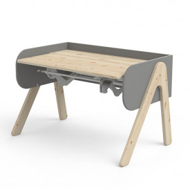 Tilting Desk WOODY - Natural/Grey Grey Flexa
