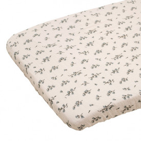 Muslin Fitted Sheet 60x120 - Bluebell Beige Garbo and Friends