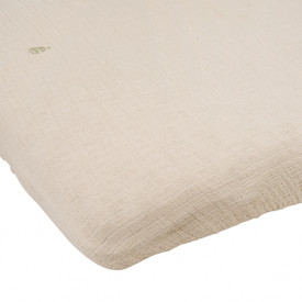 Muslin Fitted Sheet 60x120 - Eggshell Beige Garbo and Friends