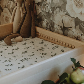 Muslin Changing Mattress Cover - Bluebell Beige Garbo and Friends