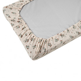Muslin Changing Mattress Cover - Clover Multicolour Garbo and Friends