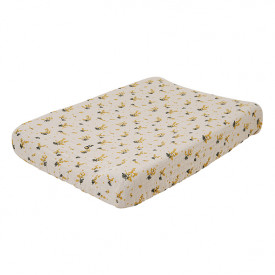 Muslin Changing Mattress Cover - Mimosa  Beige Garbo and Friends