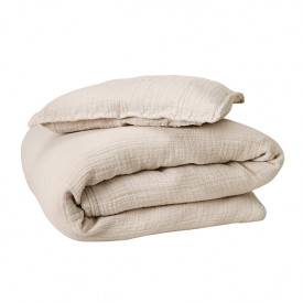 Muslin Bed Linen 100x140 - Eggshell Beige Garbo and Friends