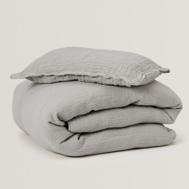 Muslin Bed Linen 100x140 - Thyme Grey Garbo and Friends