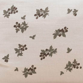 Muslin Changing Mattress Cover - Blackberry White Garbo and Friends