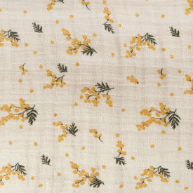 Muslin Fitted Sheet 90x200 - Mimosa Beige Garbo and Friends