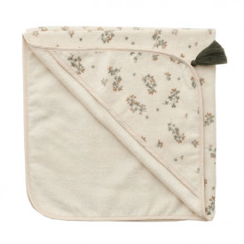 Baby Hooded Towel - Clover White Garbo and Friends