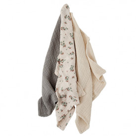 Set of 3 Muslin Cloth - Clover  Multicolour Garbo and Friends