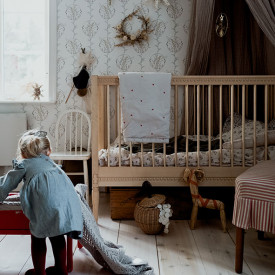 Crib with Mattress - Birch Nature Gustavienne