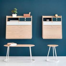 Gaston wall desk - 80 cm - Oak Nature Hartô