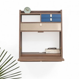 Gaston wall desk - 60 cm - Walnut Nature Hartô