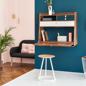 Gustave Stool - Oak & Anthracite Grey Hartô